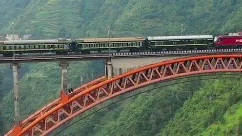 贵州大山里的铁路奇观,火车绕了四个大圈才下山,太雷人了!