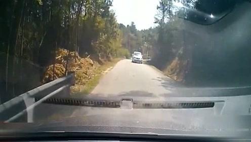 丈夫喊着刹车,妻子反应慢了半拍,撞上了