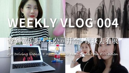 WeeklyVlog004拿到驾照 + 开会 + 跟我去看展