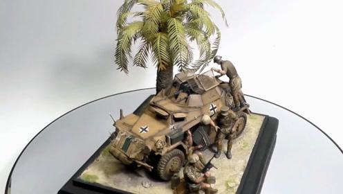 椰树战车图,模型场景还原太逼真,这是高手!