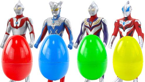 奥特曼发光人偶扭蛋玩具奇趣蛋变成怪兽赛罗贝利亚大作战