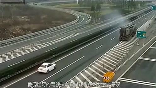 女司机在弯道连超两车,老公拼命大喊四声加速,成功躲过一劫