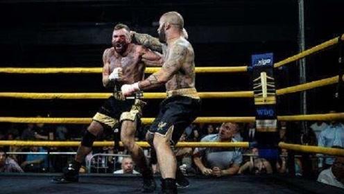 凶狠的裸拳大赛,他将对手打的头破血流
