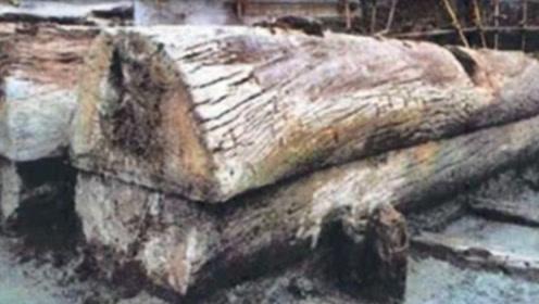 千年古墓出土两吨重独木棺,开棺后发现蓝色遗骨,专家:这不可能