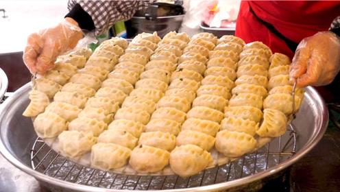 韩国人是如何做饺子的?出锅的瞬间,叫人流口水