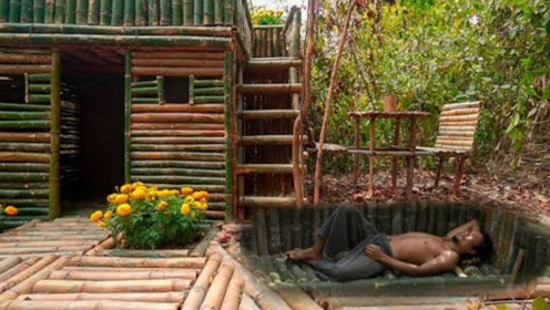 小伙夏日避暑,用简易工具打造地下豪华小屋,冬暖夏凉水电全免!