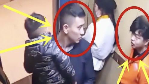 猖狂男子电梯抽烟,抱孩子父亲一顿暴揍,太解气!