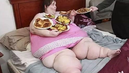 着实羡慕!体重达1450斤女子,竟嫁给比自己小18岁的小鲜肉