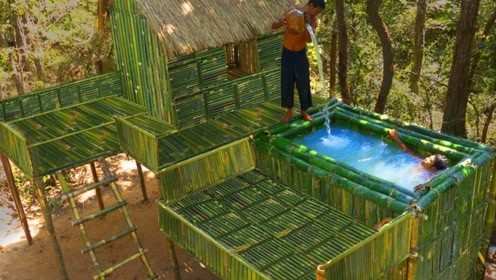 牛人在地下打造秘密别墅,冬暖夏凉内饰豪华,出门就是大泳池!