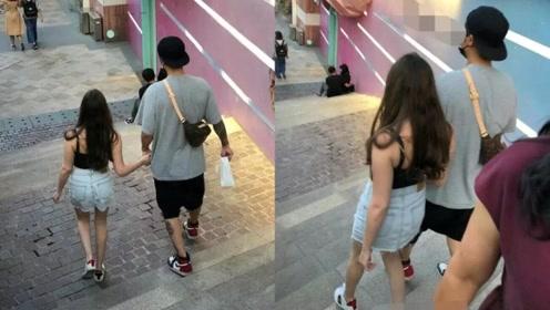 网友偶遇蒋劲夫与女友手挽手逛街,女方穿性感吊带好身材获赞