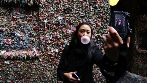 """全球最""""恶心""""景点,沾有100万人吃过的口香糖,网友:受不了"""