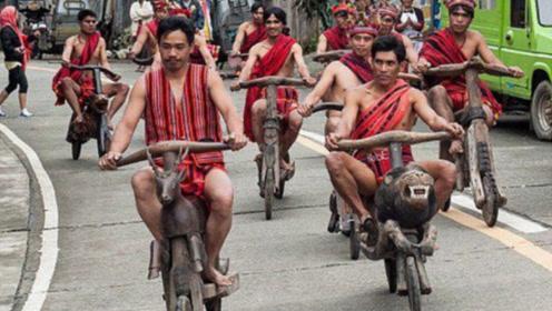 菲律宾最拉风的交通工具,看起来很帅,就是下坡比较费脚皮!