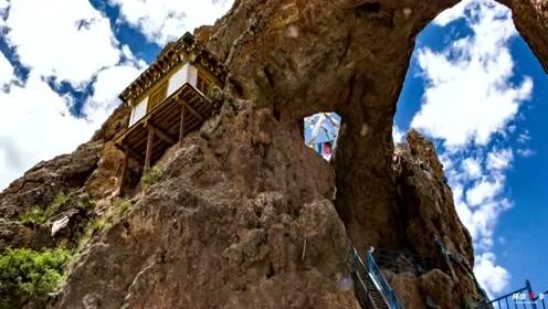 把房子修在这种地方的才是高人,西藏海拔4800米悬崖上小屋