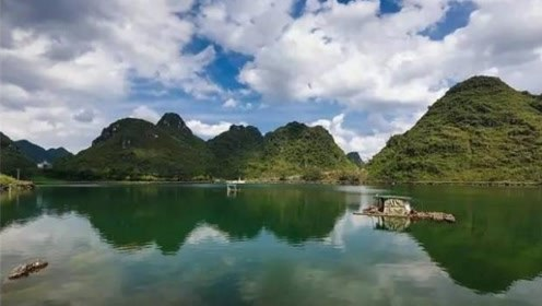 广西一神秘湖泊,一夜之间突然出现,一个月后又消失了!