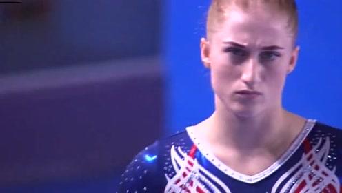 日本美女体操,没想到落地时尴尬了,下一秒裁判都不忍直视