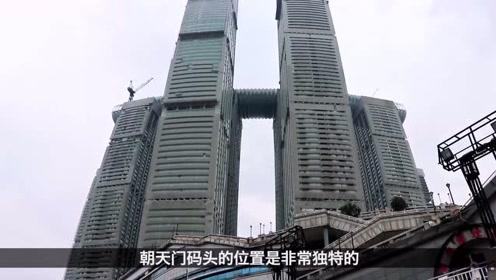 实拍重庆朝天门码头,长江和嘉陵江交汇处,不愧是重庆最大水码头