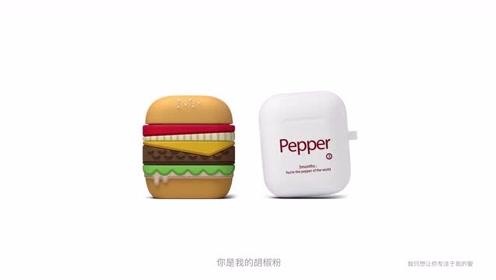苹果发布AirPods无线耳机广告: 多彩保护壳