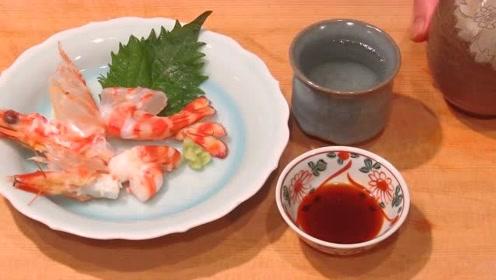 下饭的活虾刺身美食