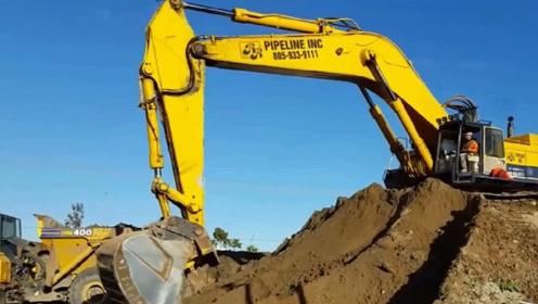 德国制造世界上最大的挖掘机,一天可将山夷为平地