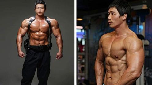 他17年练成韩国最壮警察!肌肉块头不输黄哲勋,颜值更是惊人!