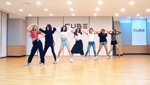 CLC新曲《Devil》练习室舞蹈公开,舞蹈很整齐的小姐姐们