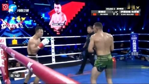 世界冠军又如何!武警拳王贾奥奇战胜世界第七布莱德