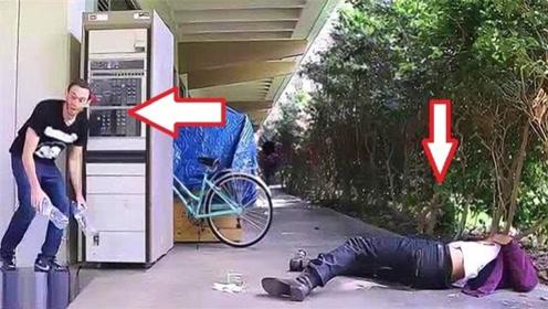 街头恶搞:男子中枪倒地不醒,下一秒路人反应太疯狂!