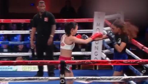 裁判屡次偏袒美国选手,中国女将邓祖儿被惹怒,淡定抡拳暴虐对手