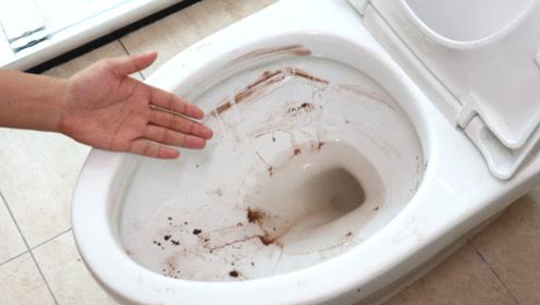马桶上黄斑污垢除不掉,用这个好方法,马桶立马洗得洁净如新