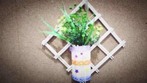 儿童手工制作大全 废品利用 一次性筷子制作装饰