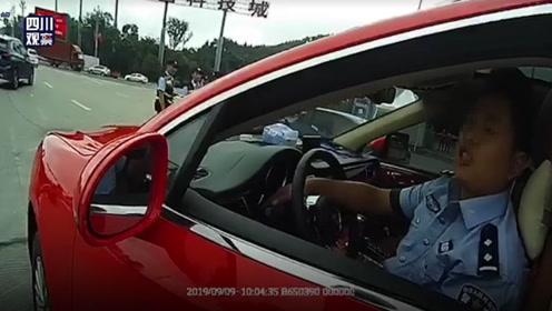 胆肥!男子开假保时捷冒充警察 还无证驾驶