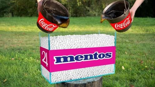 当5万颗曼妥思与可乐相遇,究竟会发生什么?下一秒出乎意料!