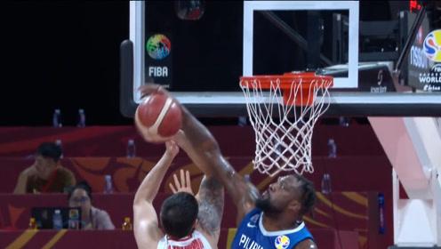 篮球世界杯菲律宾十佳球 布拉切虚晃暴扣一气呵成送惊天大火锅