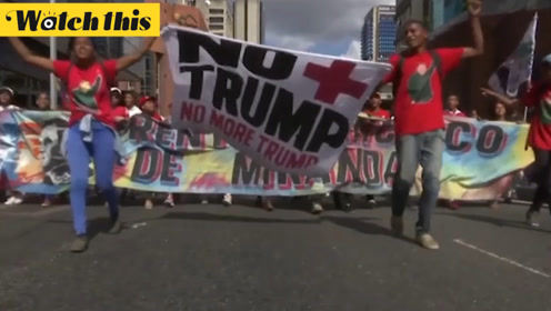 上千委内瑞拉市民上街游行挺马杜罗 市民:特朗普就是多管闲事