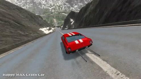 汽车驾驶游戏:史诗般的高速跳跃撞坏了怪物卡车4号