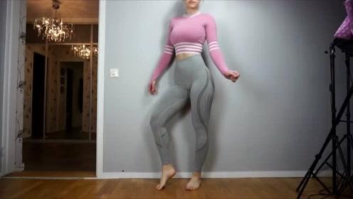 最性感的打底裤试穿,女神走在潮流前端