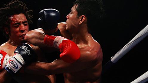 泰拳凶狠肘击,一击爆头当场打晕KO对手!
