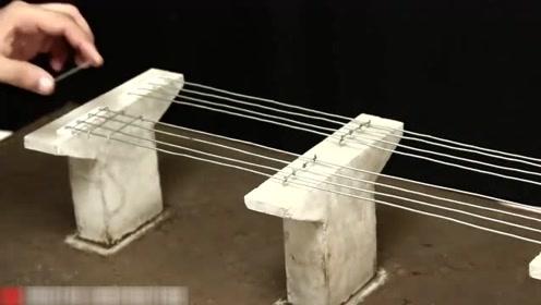 小伙手工打造微型高架桥梁,施工非常专业规范,堪比建筑工程师!