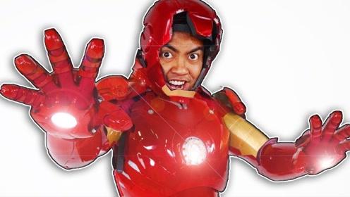 戏精小伙真土豪!花费1万美元买超大钢铁侠战甲,穿在身上真炫酷