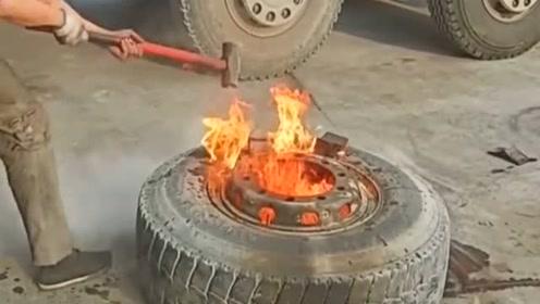 说是帮我补胎,但把轮胎点燃是几个意思啊!