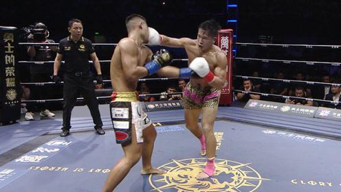 日本拳王赛前飙中国话,中国70KG黄金悍将四回合拳打脚踢拿下