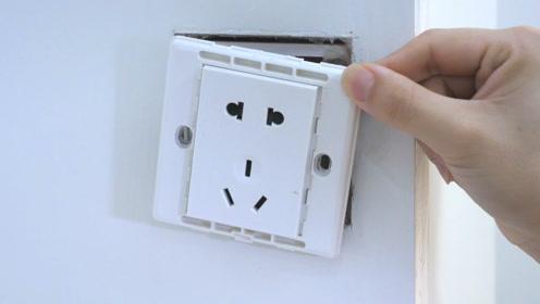 墙上插座松动不好用,老师傅教我一招,不花一分钱,比新的还牢固