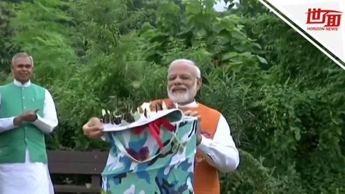 印度总理莫迪生日时放飞蝴蝶 中国网友:要变成蝴蝶飞走了?