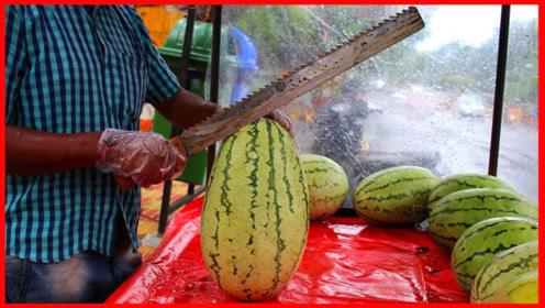 不愧是开挂的民族,这样切水果就不怕切到手?