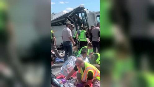 美国一旅游大巴发生事故至少4名讲中文的游客死亡