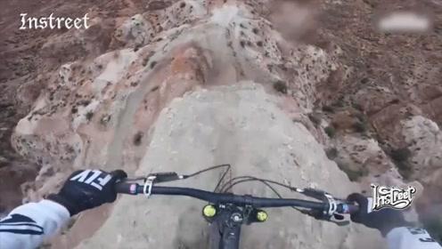 这几乎90度的山坡,山地自行车大神这么轻松就征服了