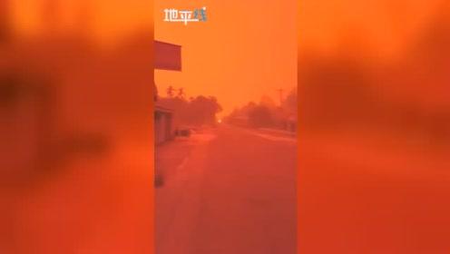 可怕! 印度尼西亚因空气污染整片天空突变血红色 不分白天黑夜