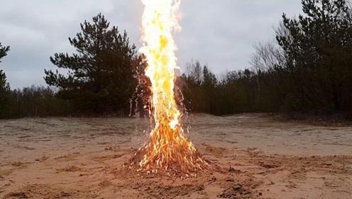 5000根火柴埋在土里,点燃后会发生什么?场面失控
