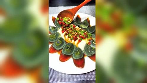 皮蛋豆腐美食小吃,相信我这样做真的很好吃,请问你喜欢吗