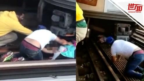 父亲拉着5岁女儿跳轨自杀当场身亡 女儿哭喊着爬出铁轨死里逃生